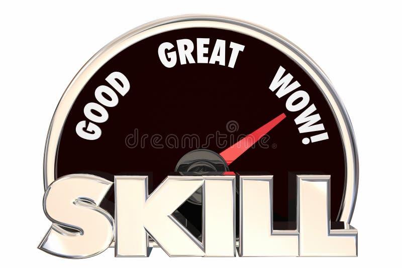 Medida do conhecimento da experiência do talento da habilidade ilustração royalty free