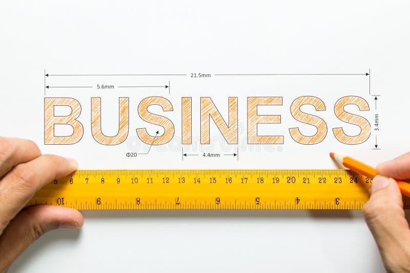 Medida do crescimento ou o sucesso do negócio imagem de stock