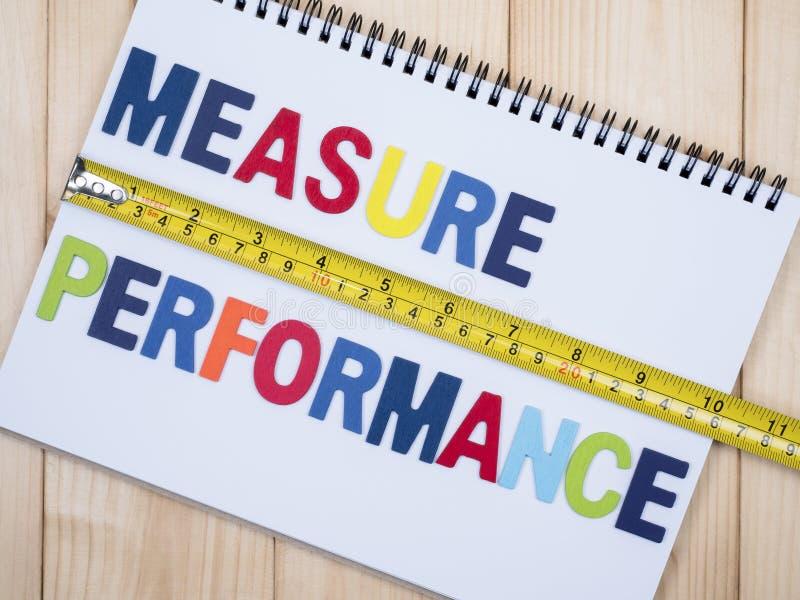 Medida do desempenho 1 fotos de stock