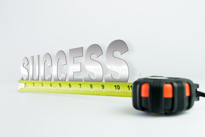 Medida do sucesso imagens de stock