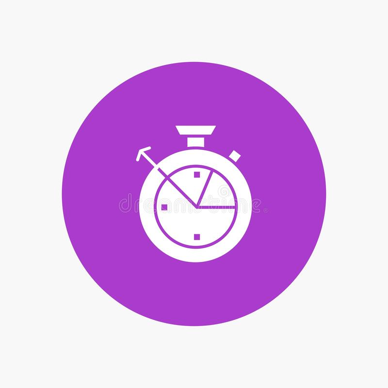 Medida, tiempo, reloj, ciencia de los datos ilustración del vector
