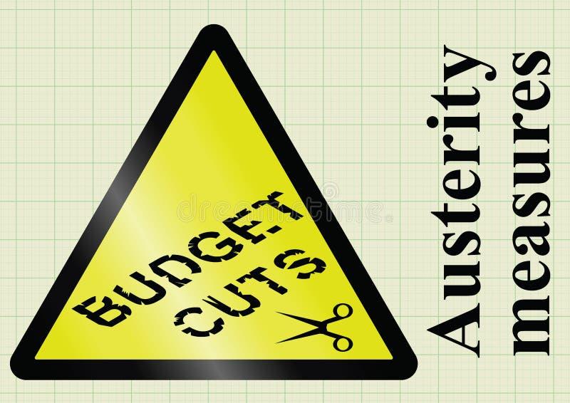 Medidas e cortes no orçamento de austeridade ilustração royalty free