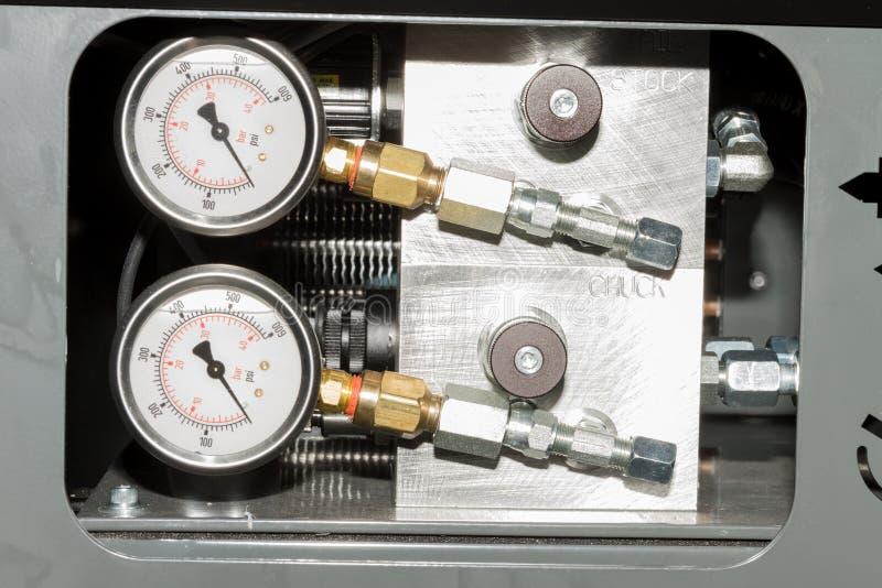 Medidas industriais como parte da máquina do CNC imagem de stock