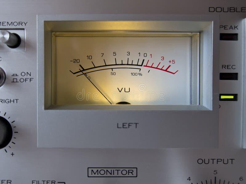 Medidor análogo do VU do sinal eletrônico foto de stock royalty free