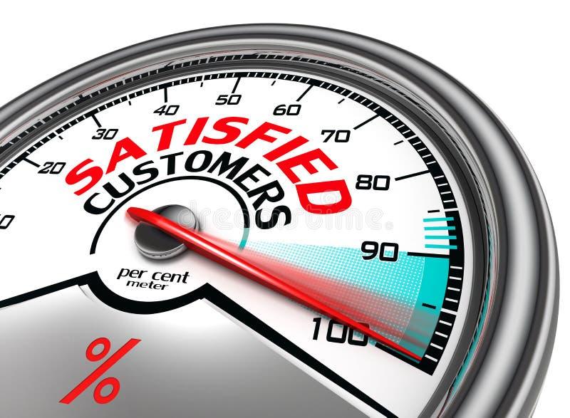 Medidor conceptual satisfeito dos clientes