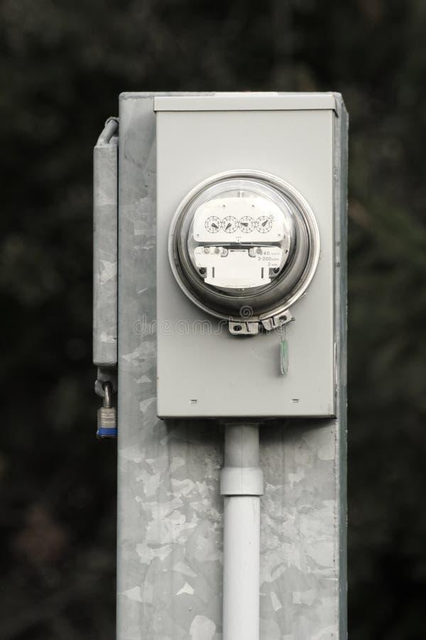 Medidor da eletricidade fotos de stock royalty free