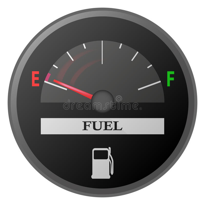 Medidor da gasolina da placa do traço do carro, calibre de combustível ilustração do vetor