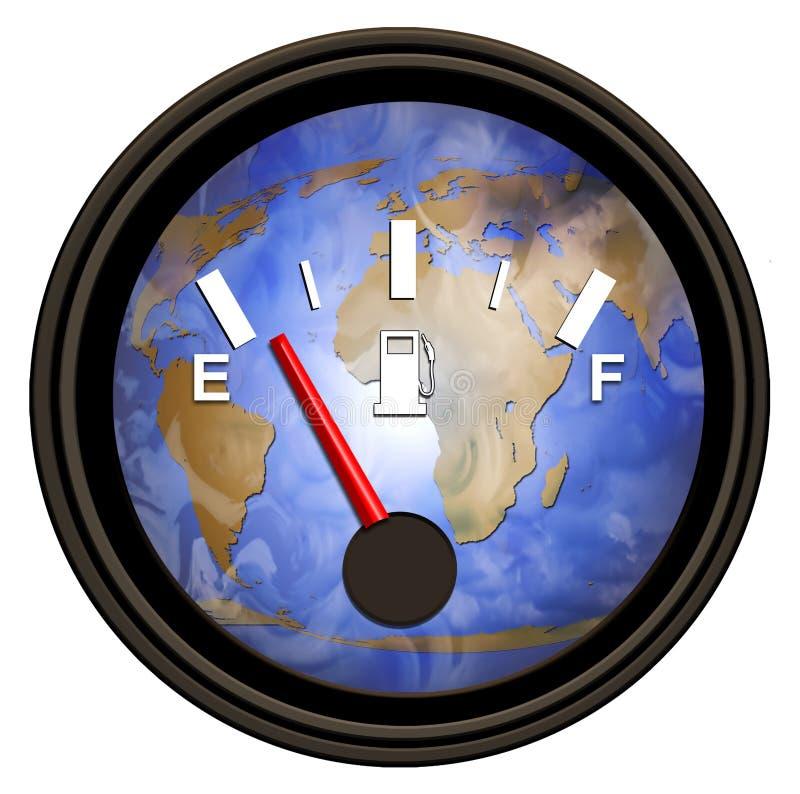 Medidor da gasolina do mundo ilustração do vetor