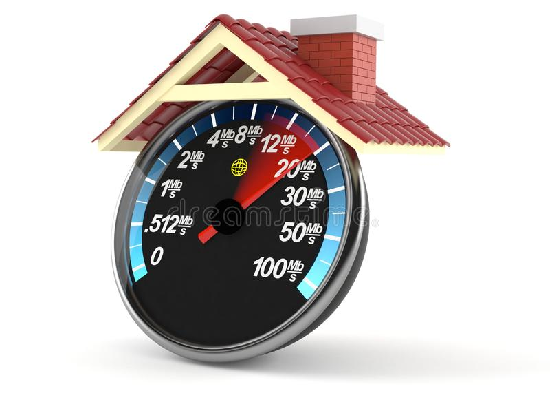 Medidor da rede com telhado ilustração do vetor