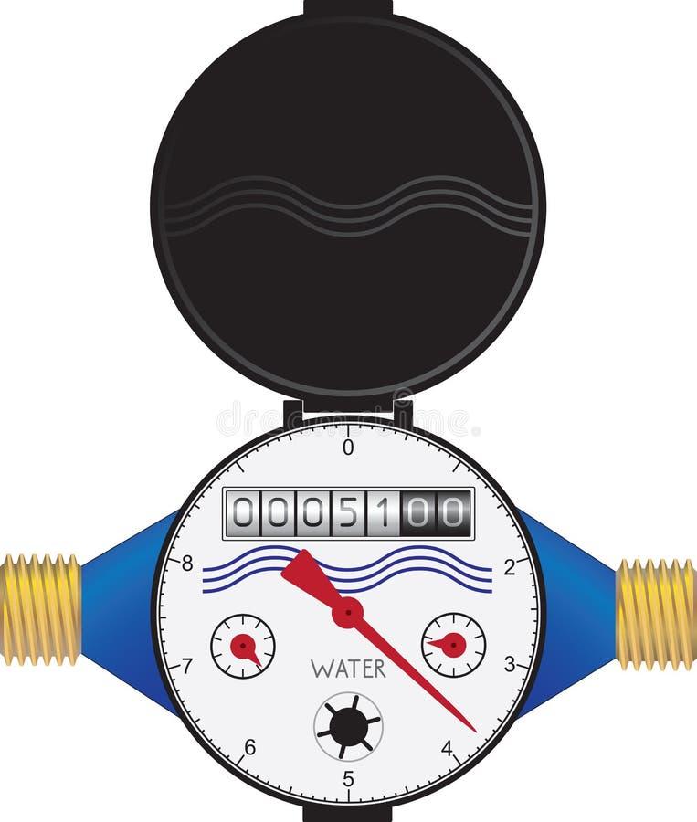 Medidor de água ilustração stock
