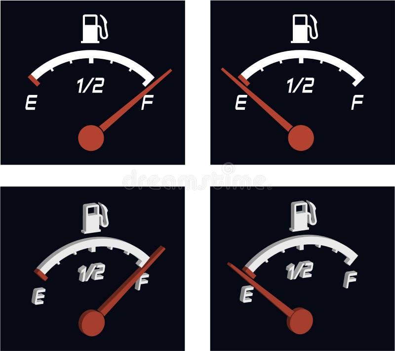 Medidor de combustível ilustração royalty free