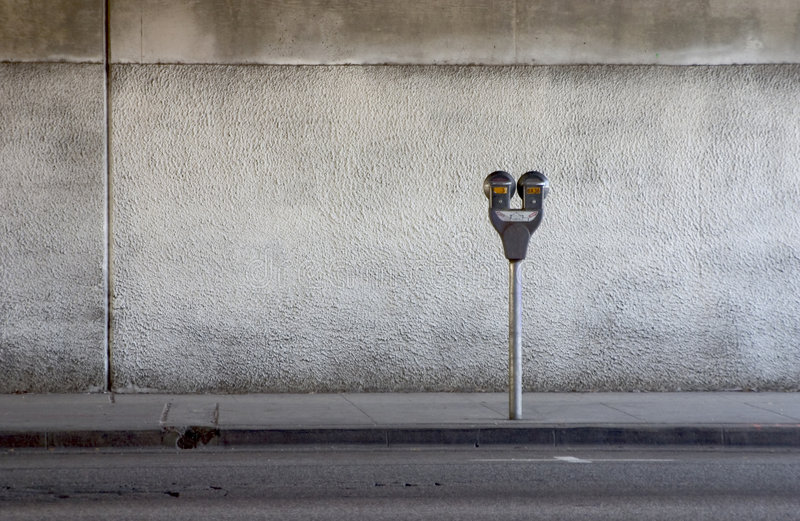 Medidor de estacionamento imagem de stock