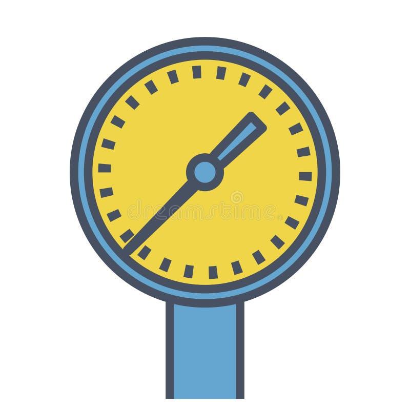 Medidor de leitura azul esboçado ilustração do vetor