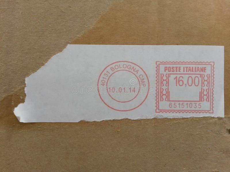 Medidor de porte postal da Bolonha imagens de stock royalty free
