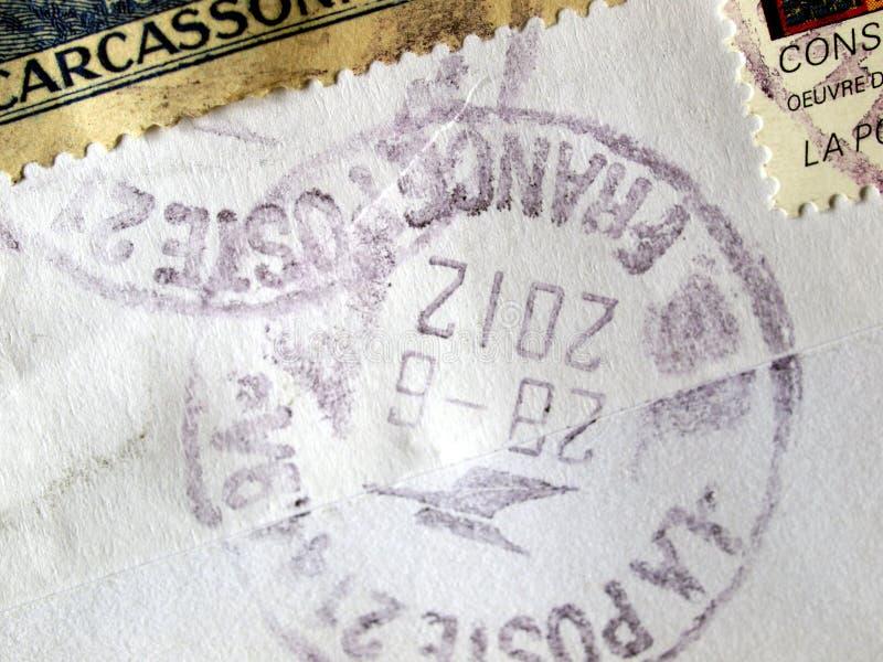 Medidor de porte postal de França fotografia de stock royalty free