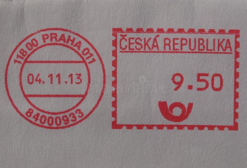 Medidor de porte postal de Praga imagens de stock