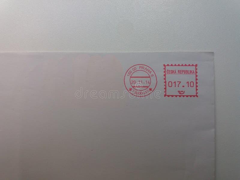 Medidor de porte postal de Praga foto de stock royalty free