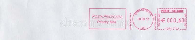 Medidor de porte postal de Segrate (Itália) fotografia de stock