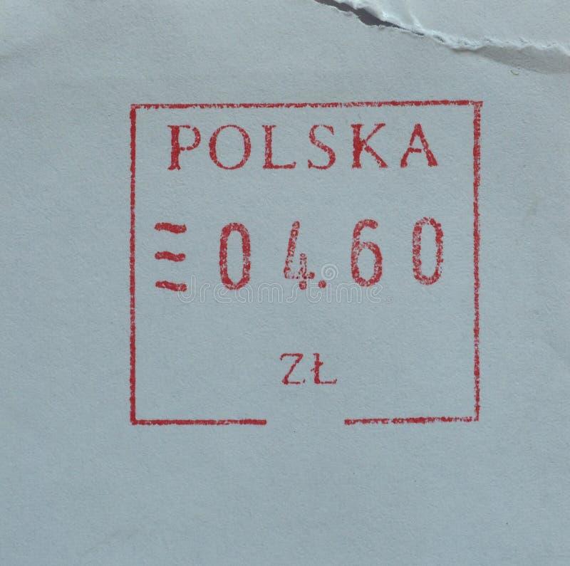 Medidor de porte postal do correio do Polônia fotos de stock
