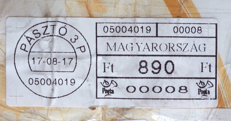 medidor de porte postal de Hungria fotografia de stock royalty free