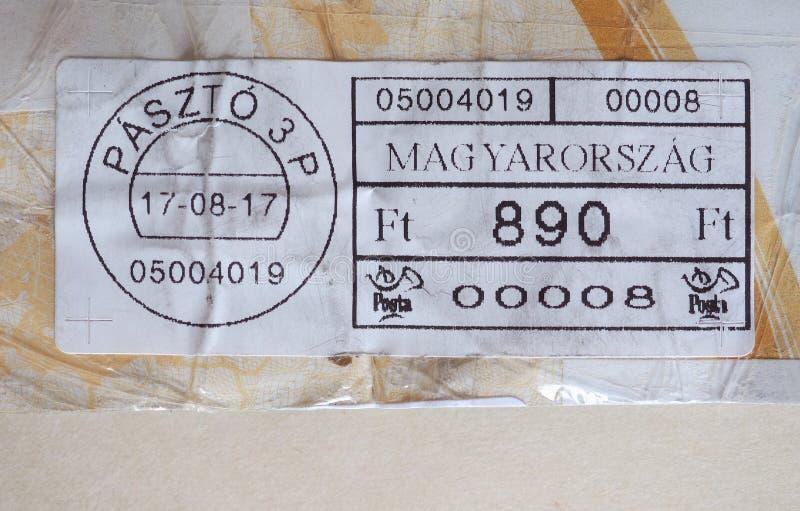 medidor de porte postal de Hungria imagem de stock