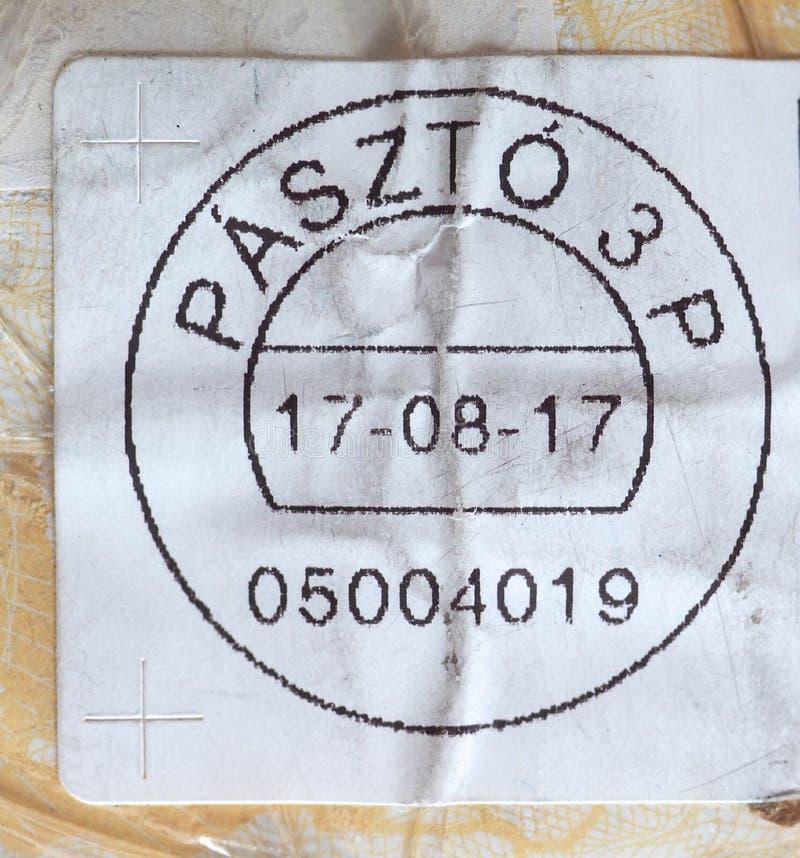 medidor de porte postal de Hungria fotografia de stock