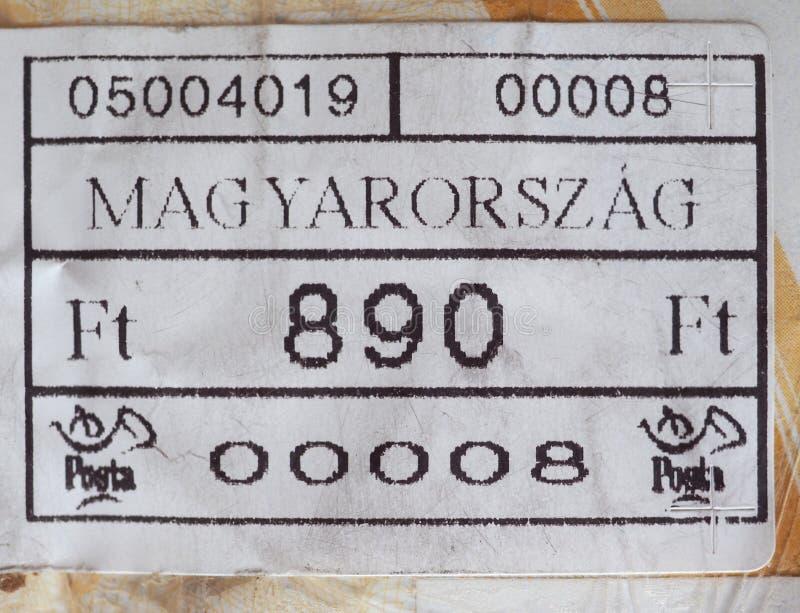 medidor de porte postal de Hungria imagens de stock