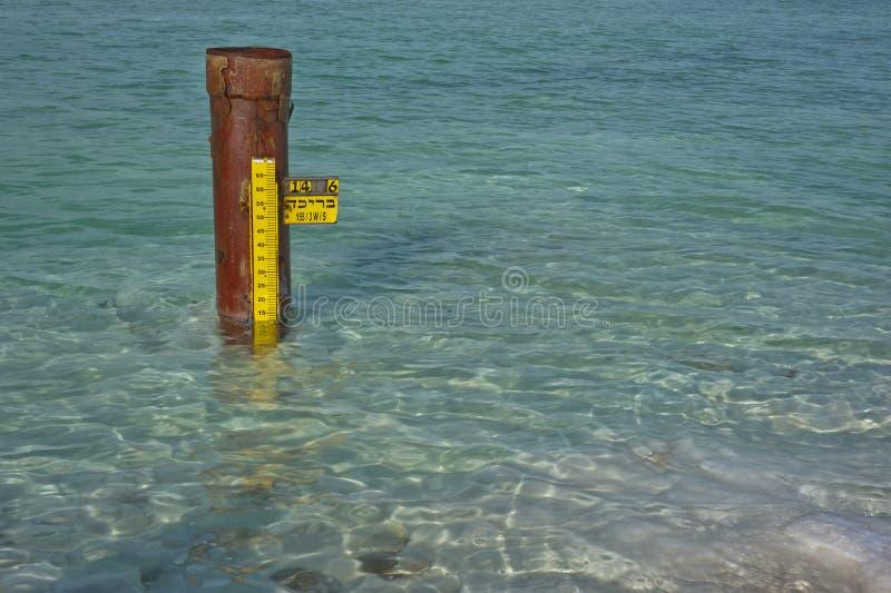 Medidor do nível de água fotografia de stock