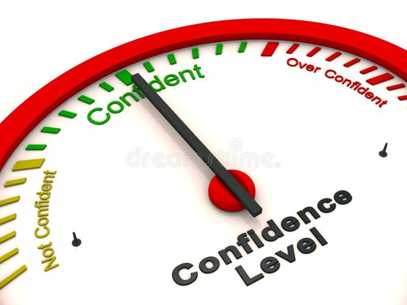 Medidor do nível de confiança ilustração do vetor