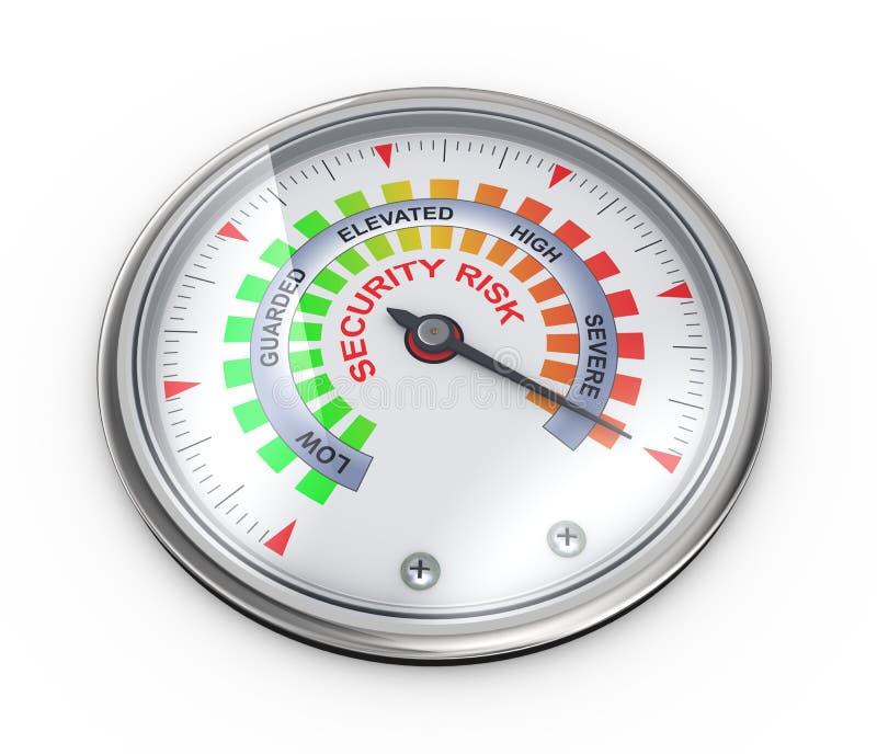 medidor do risco para a segurança 3d ilustração do vetor