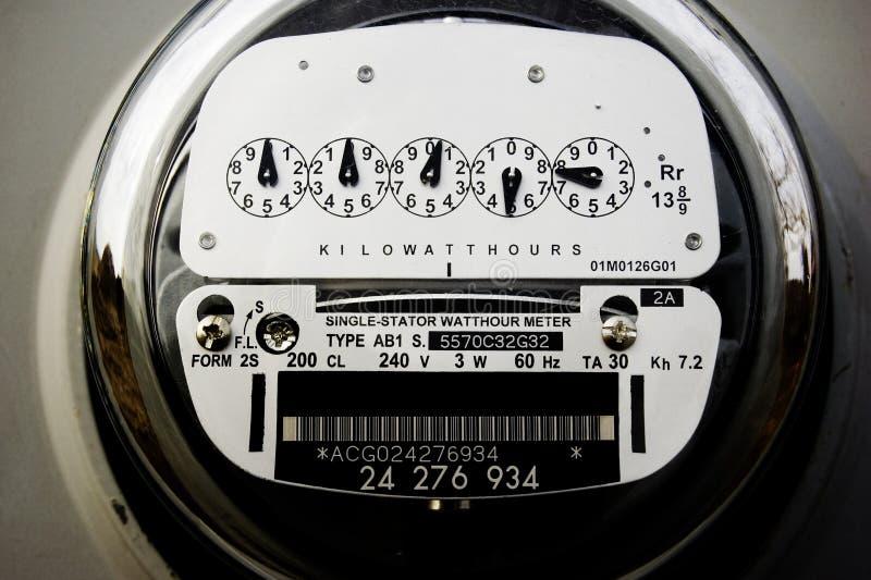 Medidor elétrico imagem de stock