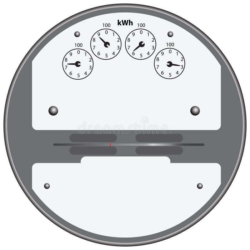 Medidor elétrico ilustração royalty free
