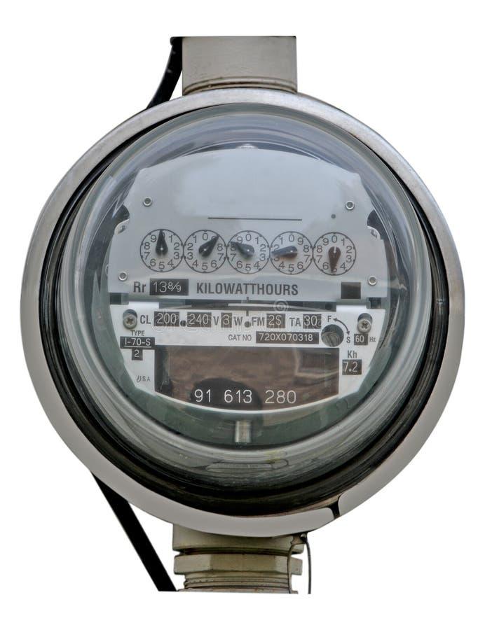 Medidor elétrico imagens de stock