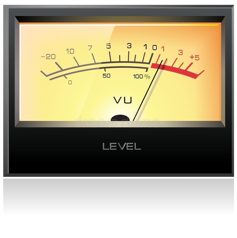 Medidor eletrônico análogo do VU ilustração royalty free