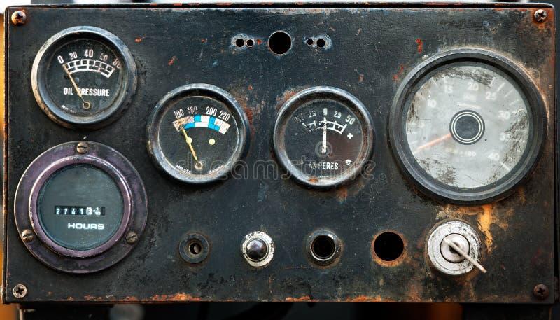 Medidor industrial velho fotografia de stock royalty free