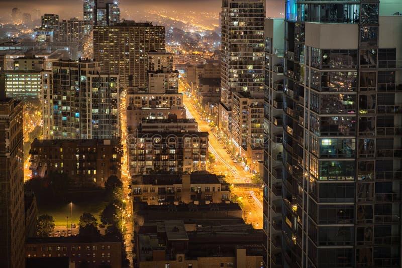 120 medidores acima de Chicago imagem de stock