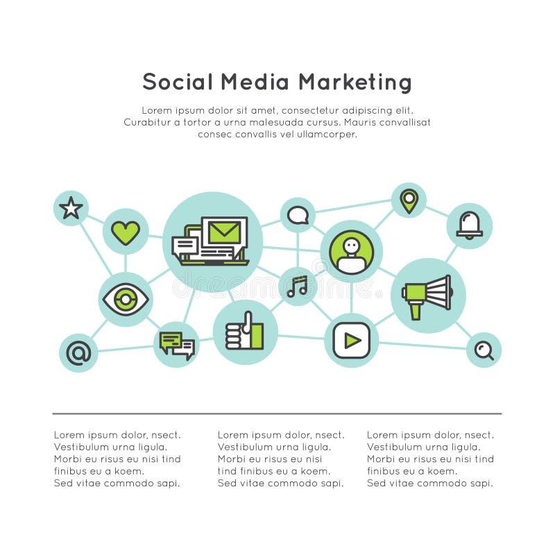 Medien des Sozialen Netzes, die Konzept vermarkten stock abbildung