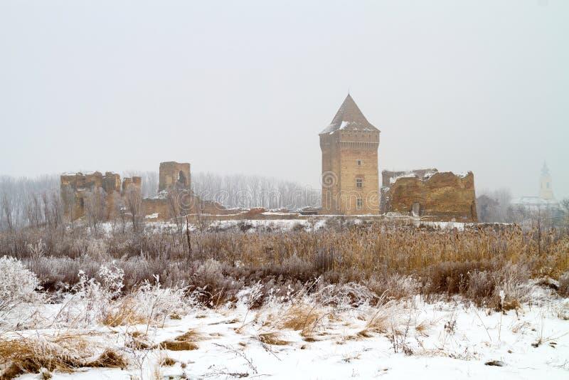 medieva塞尔维亚省伏伊伏丁那的Bac堡垒废墟  免版税图库摄影