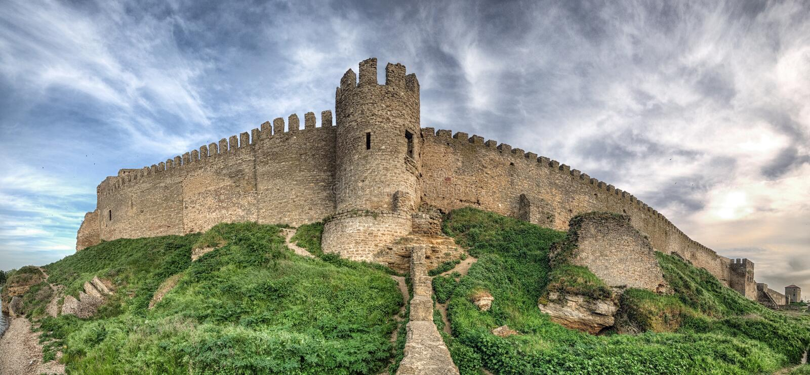 Medieval Akkerman fortress near Odessa in Ukraine royalty free stock photo
