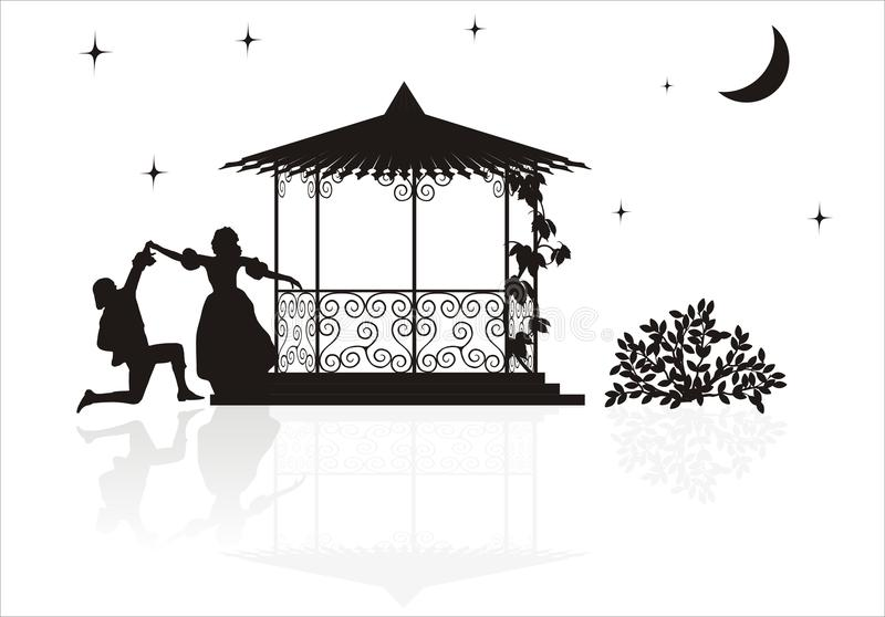Download Medieval arbor silhouette stock vector. Image of evening - 17813275