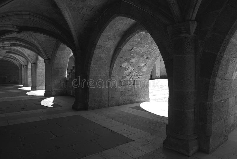 Medieval arches royalty free stock image