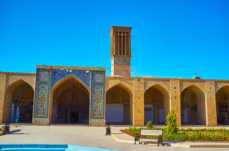 Medieval architecture of Kerman, Iran stock photography