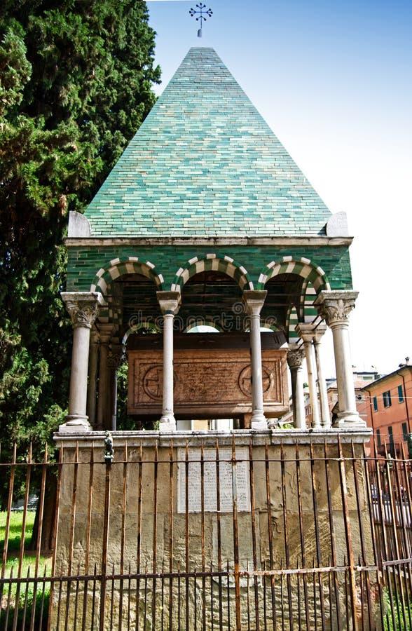 Medieval ark of Glossatory Tombe dei Glossatori, great masters of law, near basilica of San Francesco. Bologna, Italy. Medieval ark of Glossatory Tombe dei stock photography