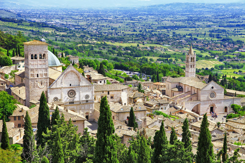 Medieval Assisi, Umbria , Italy royalty free stock images