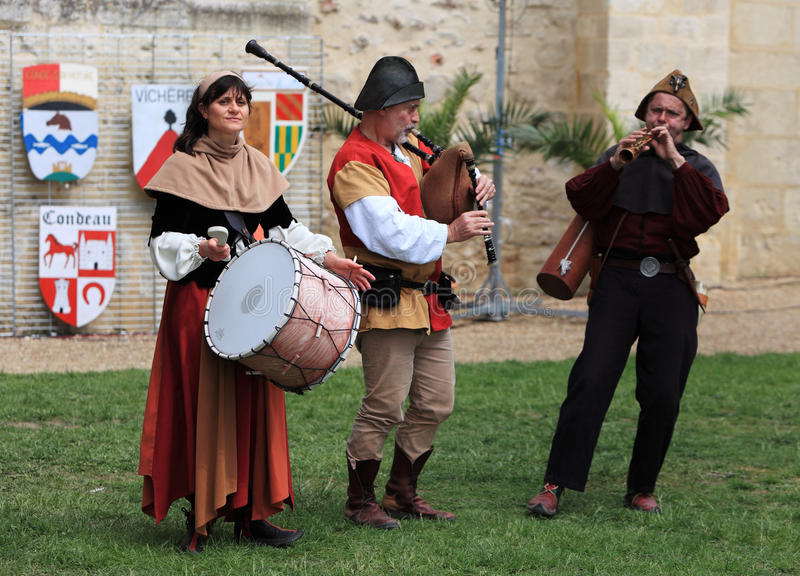 Download Medieval band editorial image. Image of performance, nogent - 19230325