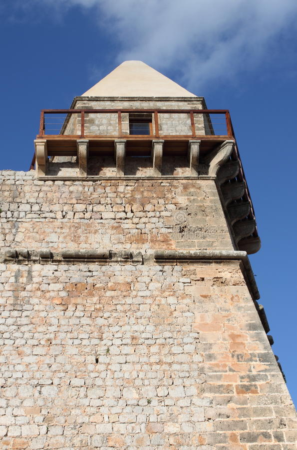 Medieval bastion in Ibiza stock image