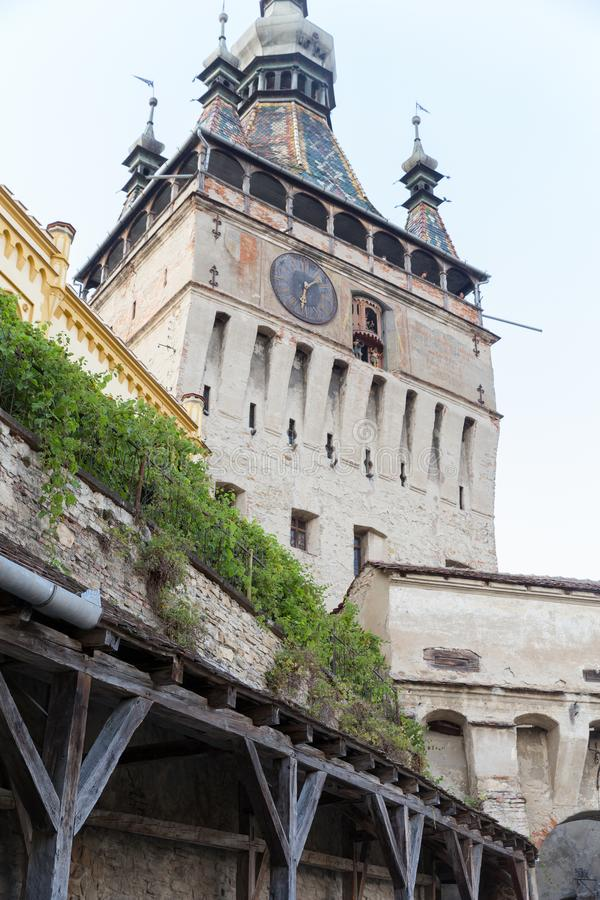 Historical building in old city Sighisoara, Romania royalty free stock photography