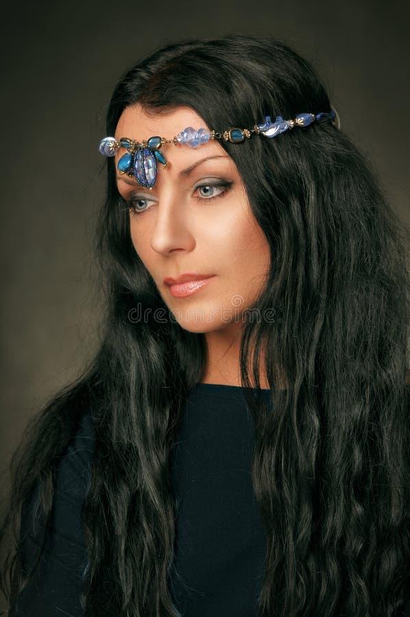 Medieval beauty stock photo
