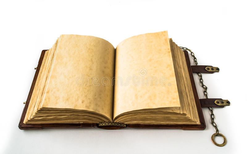Medieval book with chain stock photos