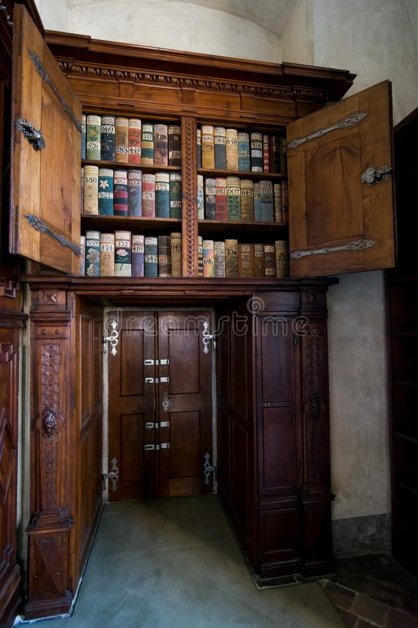 Old library in Prague castle royalty free stock photos